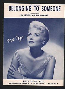Belonging-To-Someone-1957-Patti-Page-Sheet-Music