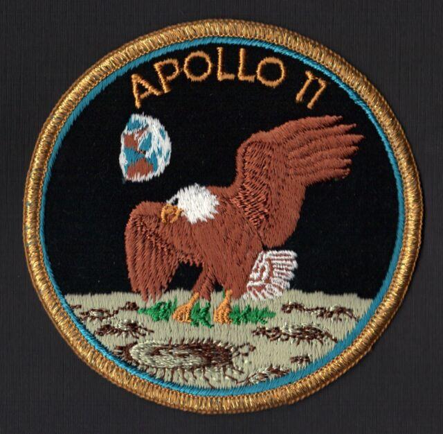 APOLLO 11  AB Emblem early 'Green Moon' VINTAGE ORIGINAL CLOTH BACK NASA PATCH