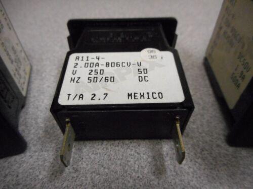 LOT OF 3 AIRPAX R11-4-2.00A-B06CV-V 250V 50//60HZ CIRCUIT BREAKER
