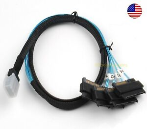 Mini-SAS-36P-SFF-8087-to-4-SFF-8482-Connectors-with-4P-Power-Cable-1M