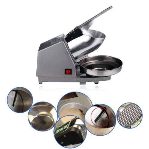 Hochwertig Elektrische Eiscrusher Icecrusher Edelstahl 300W 2200r//Min 50Hz Küche
