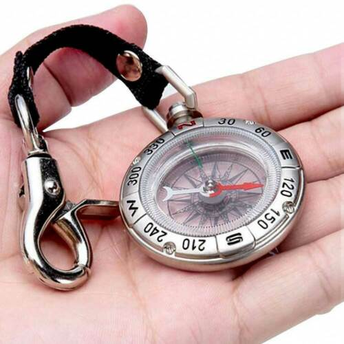 Retro Pocket Compass Vintage Outdoor Camping Hiking Survival Tools Keychain