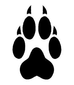 fd622c837fc0 4 Wolf Paw Print Temporary Tattoos, School Mascot Cheerleader Face ...