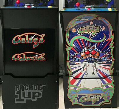 Galaga Arcade 1up Cabinet Riser Graphic Decal Sticker