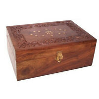 Carved Wooden Aromatherapy Essential Oils Storage Box Holds 24 x 10ml Oil Bottle