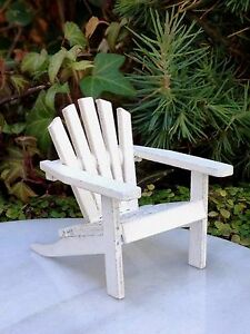 Image Is Loading Miniature Dollhouse Fairy Garden Furniture Mini White Wood