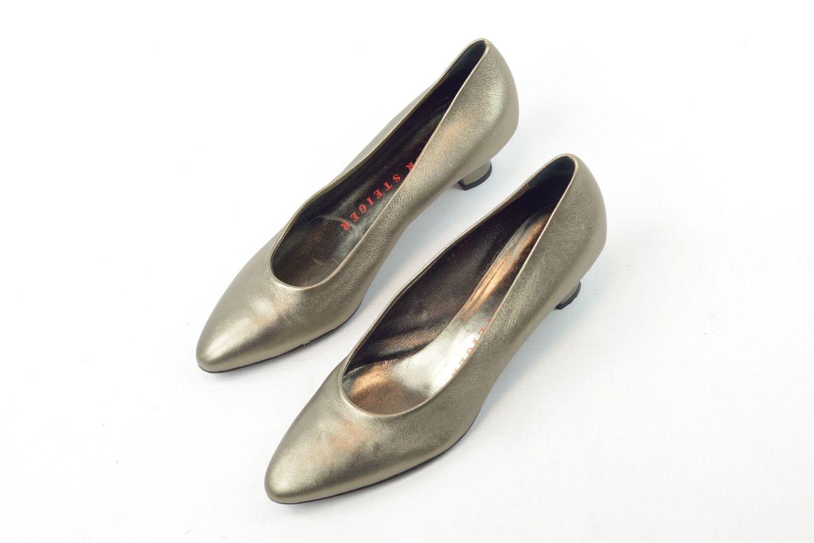 WALTER STEIGER Metallic Kitten Heels, Heels, Heels, UK 8 US 11 EU 41 6f0bdc