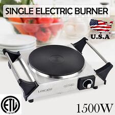 1500W Portable Electric Cast Iron Single Burner Cooktop Countertop Kitchen Stove