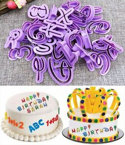 Image Is Loading 36pcs Numbers Alphabet Letter Cake Cookie Cutter Mold