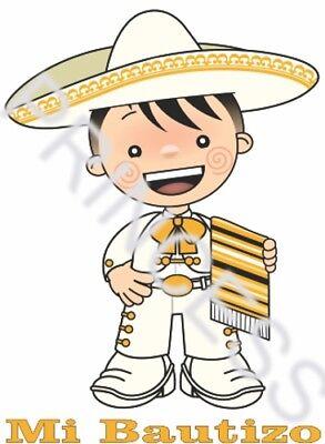 12pc Servilletas Estampadas Bautizo Baptism Angel Cruz Charro Charra Mexican