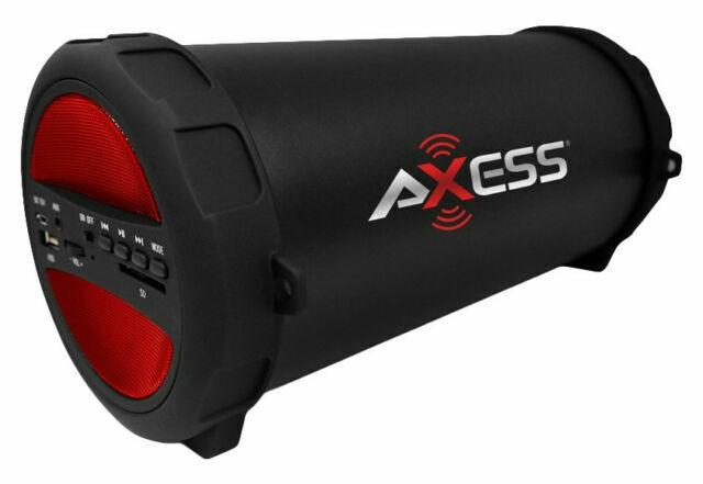 Axess SPBT10 Portable Bluetooth Speaker - Red