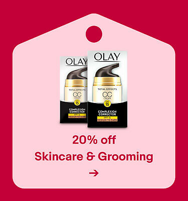 20% off Skincare & Grooming