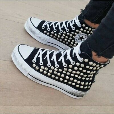 all star nere platform borchie