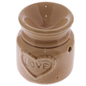 034-LOVE-034-Brown-Wax-Warmer-Burner-amp-10-Handpoured-Scented-Melts
