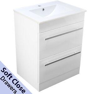 Image Is Loading Bathroom Vanity Cabinet Basin Sink 600mm Square Floor