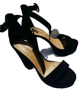Bamboo Platform Shoes Sz 7.5 Black