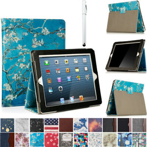 For Apple iPad 4 3 2 A1458 A1459 A1460 Folio Case Stand Smart Cover with Pencil