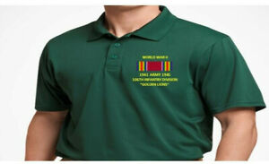 WORLD WAR II RIBBON 106TH INFANTRY DIVISION*EMBROIDERED POLO SHIRT/SWEAT/JACKET.
