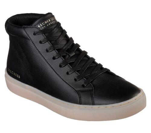 Skechers Negro Casual Zapatillas Arkline Cuero Hombre Street Side Y Blanco rqw8ARr4