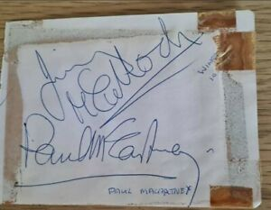 JIMMY McCULLOCH  AND PAUL McCARTNEY ORIGINAL AUTOGRAPH.  WINGS