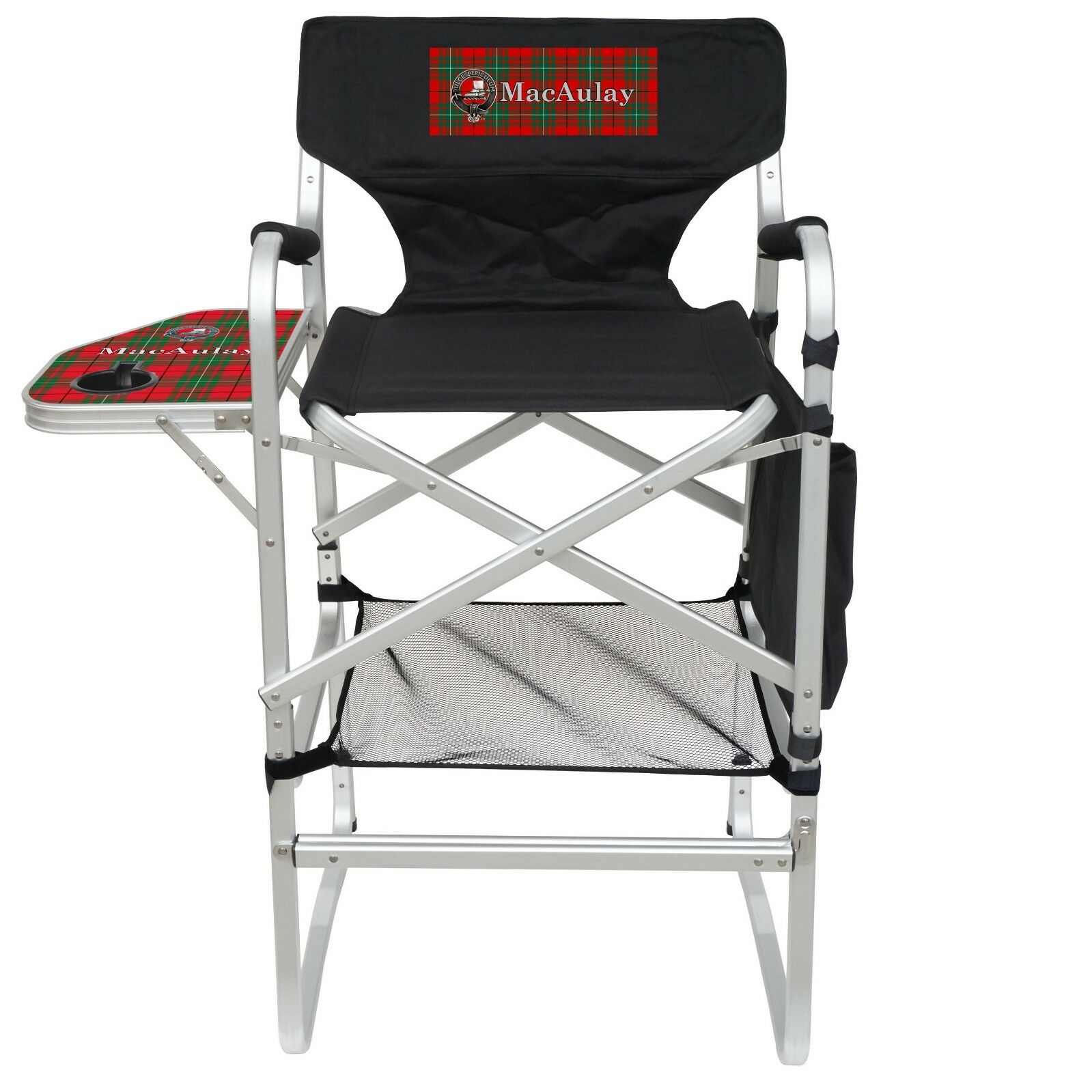 Clan MacAulay Imprinted Tall Bar Height Heavy Duty Aluminum Frame Folding Chair