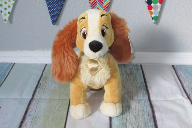 Disney Lady Dog Plush Cocker Spaniel Stuffed Animal Puppy Doll Toy