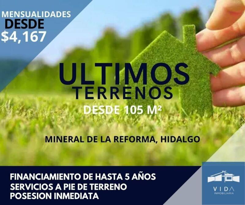 Terreno en Mineral de la Reforma Hidalgo
