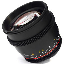 Samyang 85mm T1.5 AS IF UMC VDSLR II Video Lens CANON EOS cine -NEW VERSION UK