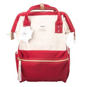 29d9db56e12 Image is loading Red-White-Anello-Japan-Unisex-Fashion-Backpack-Rucksack-