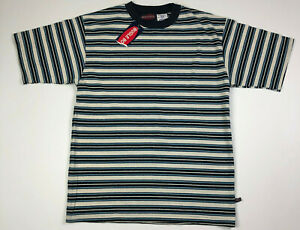 Vintage-90s-Bugle-Boy-Men-039-s-Striped-T-Shirt-Grunge-Surf-Skate-Size-XL