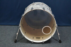 """Drumcraft Serie 7 Birch 22x18"""" Bassdrum in """"Liquid Chrome"""""""