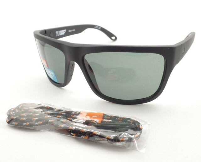 864719417c3 Spy Optics Angler Matte Black Happy Gray Green New Sunglasses Authentic