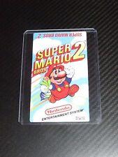 Super Mario Bros 2 Nes Cartridge Replacement Game Label Sticker Precut