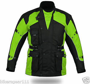 Image Is Loading NEW HI VIZ ARMOUR WATERPROOF DUAL LINER MOTORCYCLE