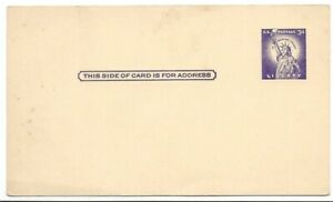 Statue-of-Liberty-3-Cent-3-x-5-1-2-034-Blank-Vintage-Correspondence-Post-Card