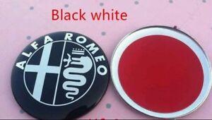 2x-Alfa-Romeo-emblema-negro-kuehlergrill-147-156-GT-mito-Giulietta-159-nuevo-logotipo