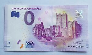 FRANCE - FRANCIA - BILLET 0 EURO CASTELO DE GUIMARAES - NEUF - 2017-1.