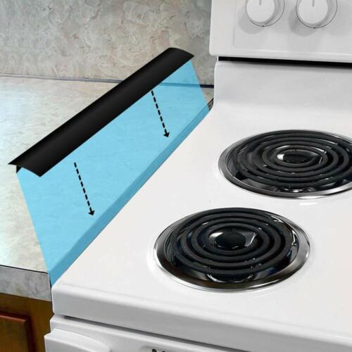 "Silicone Kitchen Stove Gap Cover 21/"" Premium Cooktop Counter Grade Mat Guard USA"