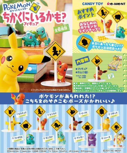 Re-ment 2017 Pokemon Road Sign Complete Set of 8 Pieces US Seller