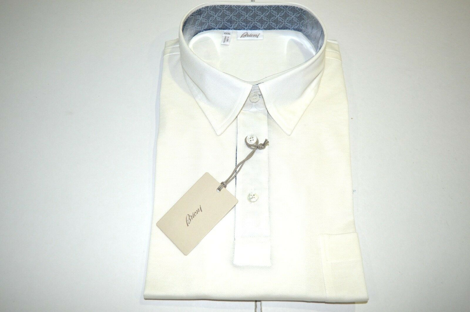 NEW  BRIONI Polo  Short Sleeve Cotton Größe 3XL Us Eu 58 (SGG11)