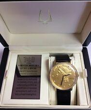 BULOVA Men's 140th Anniversary Liberty Timepiece 12 Diamond WATCH 97D105