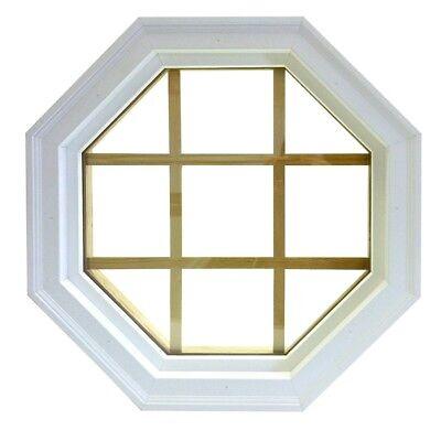Vinyl Mitered Fixed Octagon Window