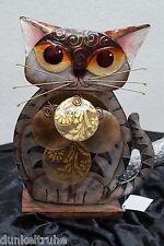 Wohnambiente Tischlampe Deko Katzen-Motiv Perlmutt Cat Lampe 28x22cm handbemalt