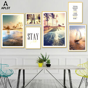 Abstract Canvas Prints Poster Marble Earth Storm Wall Art Painting Picture Decor
