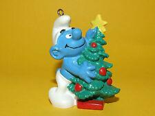 19) Schleich Schlumpf Schlümpfe Smurf mit Weihnachtsbaum Christmas Tree