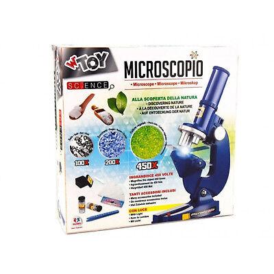 Microscopio luce disco oculare girevole e accessori 3 ingrandimenti 100 200 450