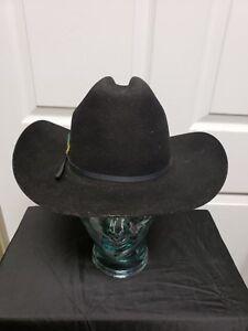 Silver Spur B Bar H Cowboy Hat 7 Black Cattleman Wool Felt ... 41e75a84b7c1