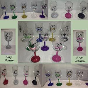Personalizzato Paillettes Bicchiere Vino Regalo Di Compleanno Festa