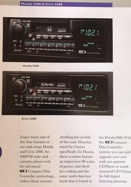 Honda Civic 2500 Series Accessory Radio Ultra Rare OEM EG