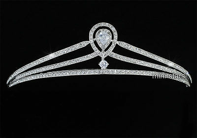 High Quality Princess Bridal Wedding Prom Party Created Diamond Tiara T1449